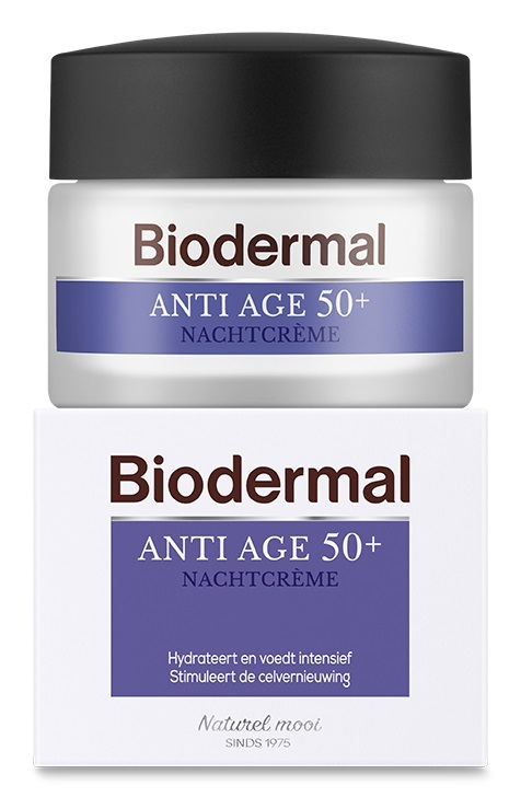 Biodermal Nachtcrème anti age 50+ Inhoud:50 ml