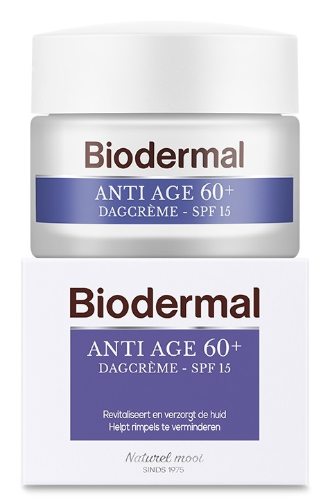Biodermal Dagcreme anti age 60+ Inhoud:50 ml